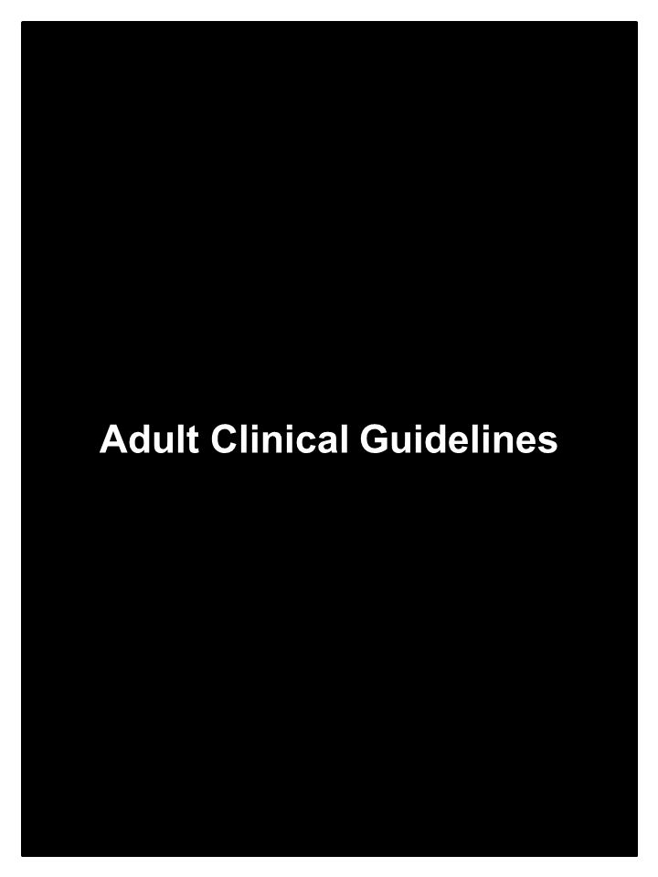 Adult Clinical Guidelines