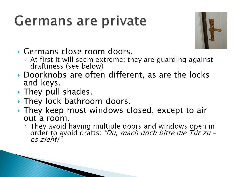  Germans close room doors.
