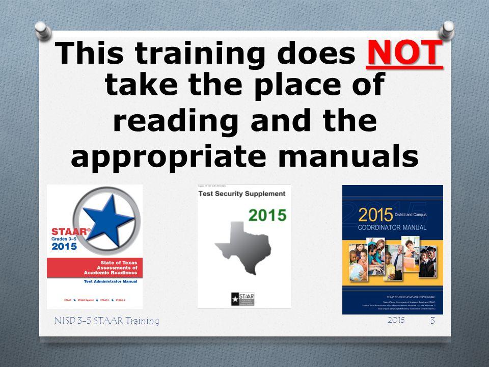 STAAR NISD 3-5 STAAR Training84 2015