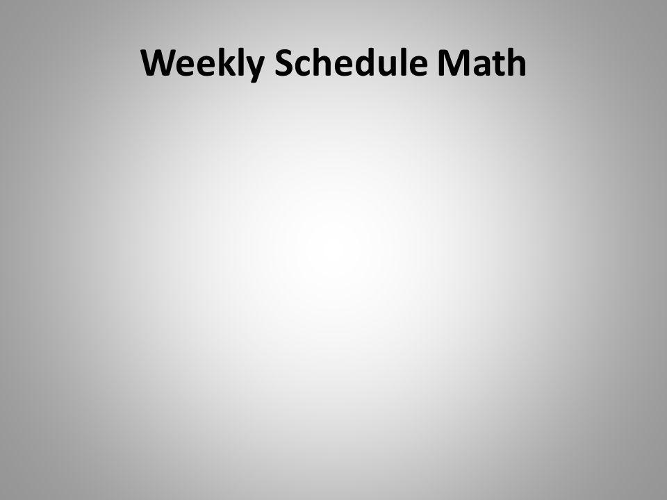 Weekly Schedule Math
