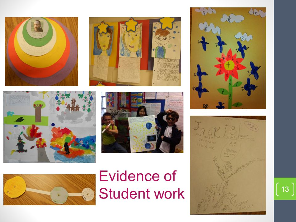 13 Evidence of Student work