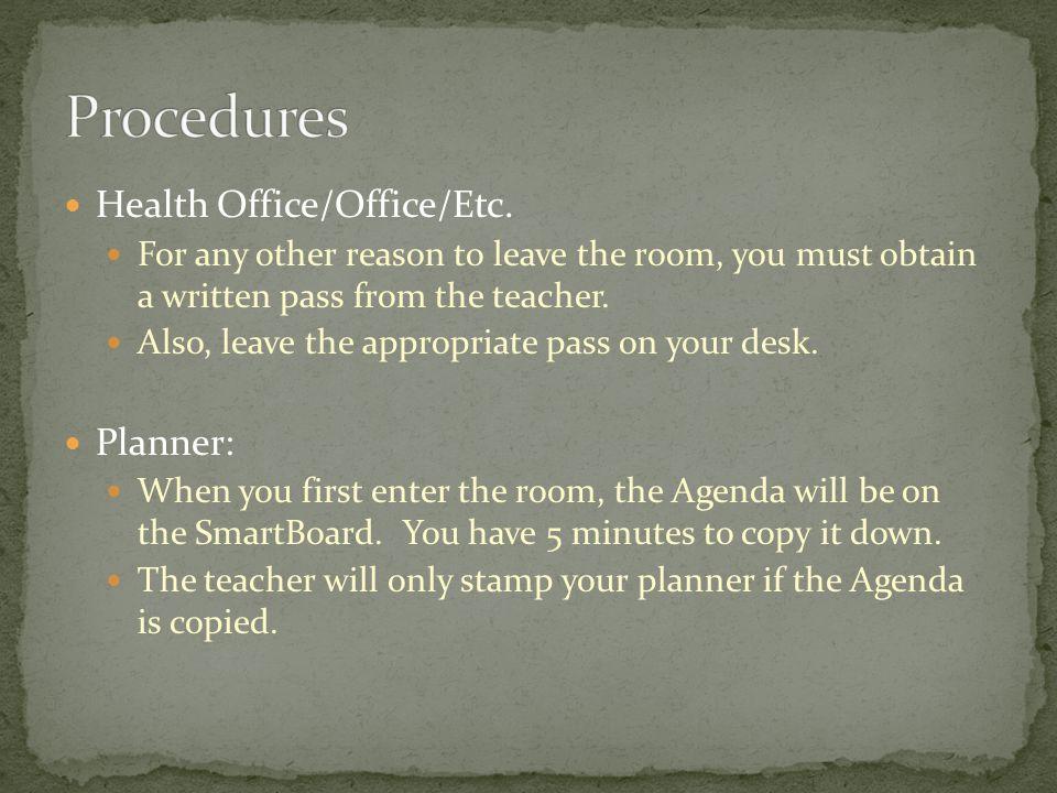 Health Office/Office/Etc.
