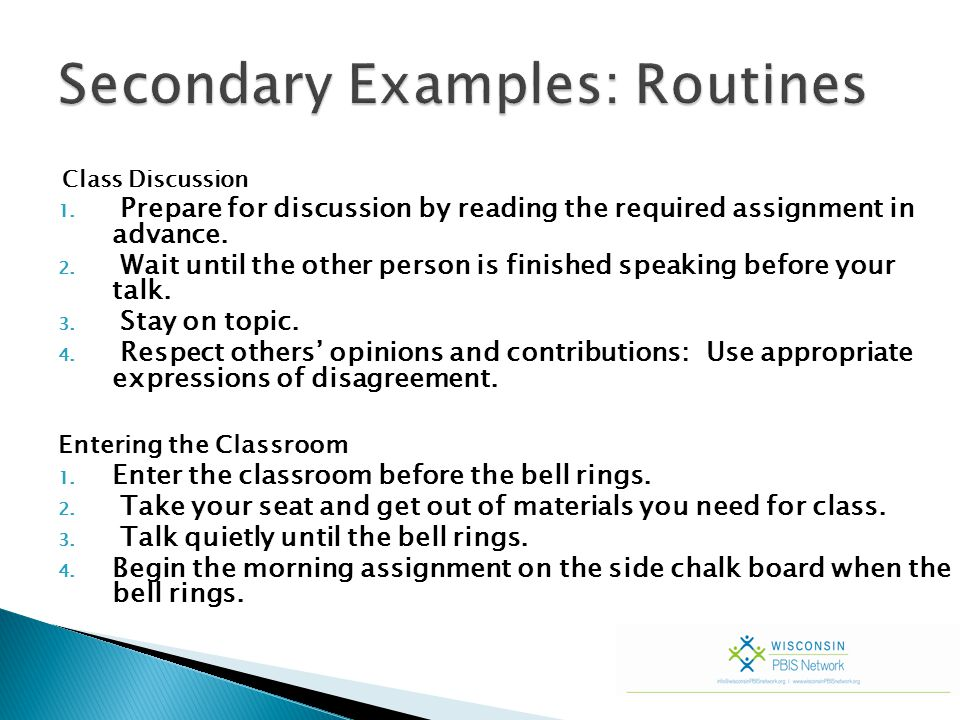 What is your continuum of redirection.Group Work: Create a continuum of redirection.