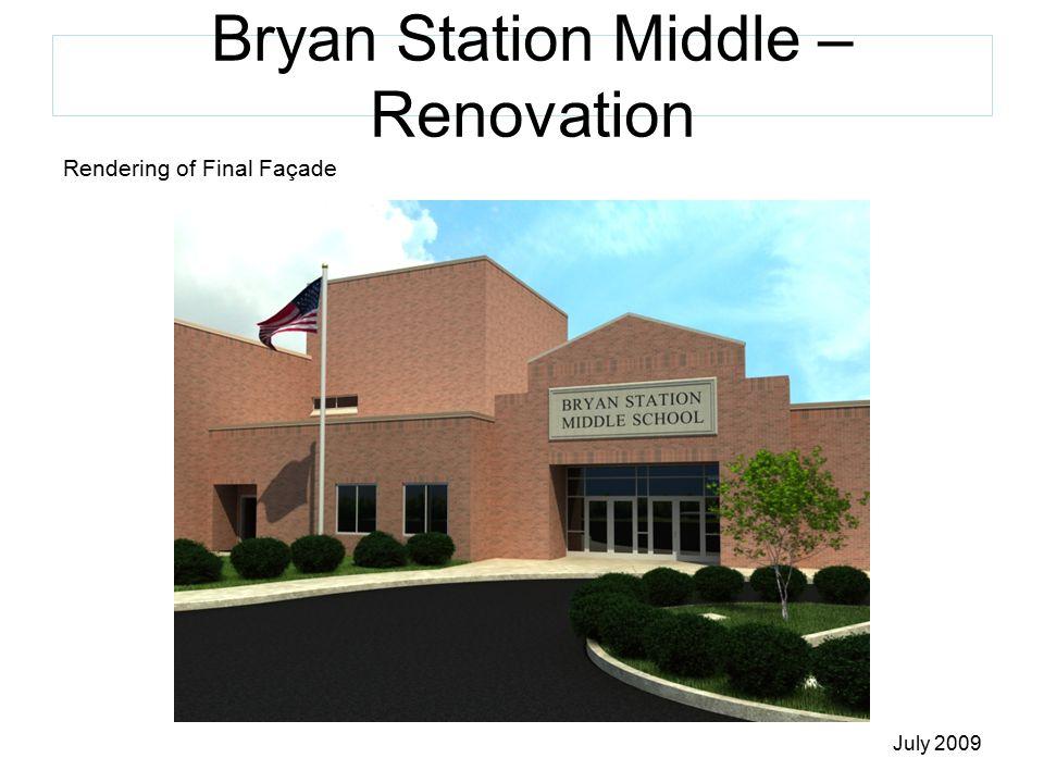 Bryan Station Middle – Renovation Rendering of Final Façade July 2009