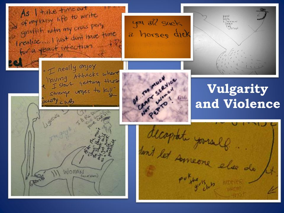 Vulgarity and Violence