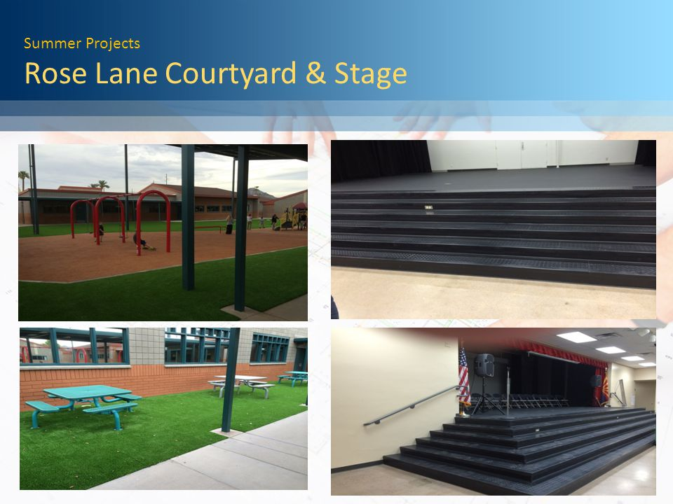 Summer Projects Rose Lane Courtyard & Stage