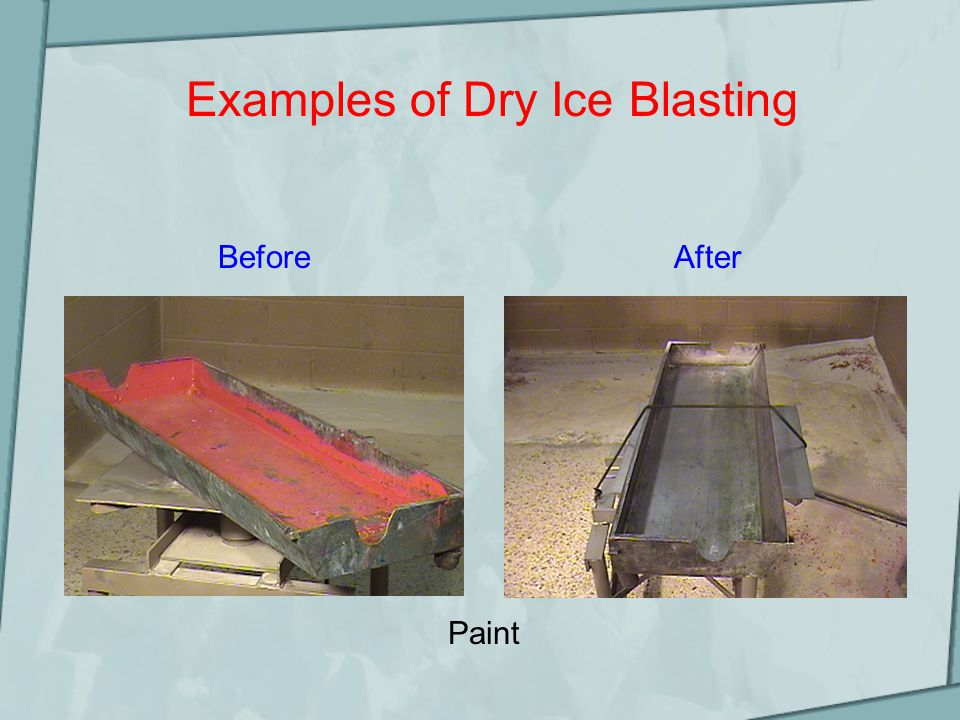 Examples of Dry Ice Blasting Paint BeforeAfter
