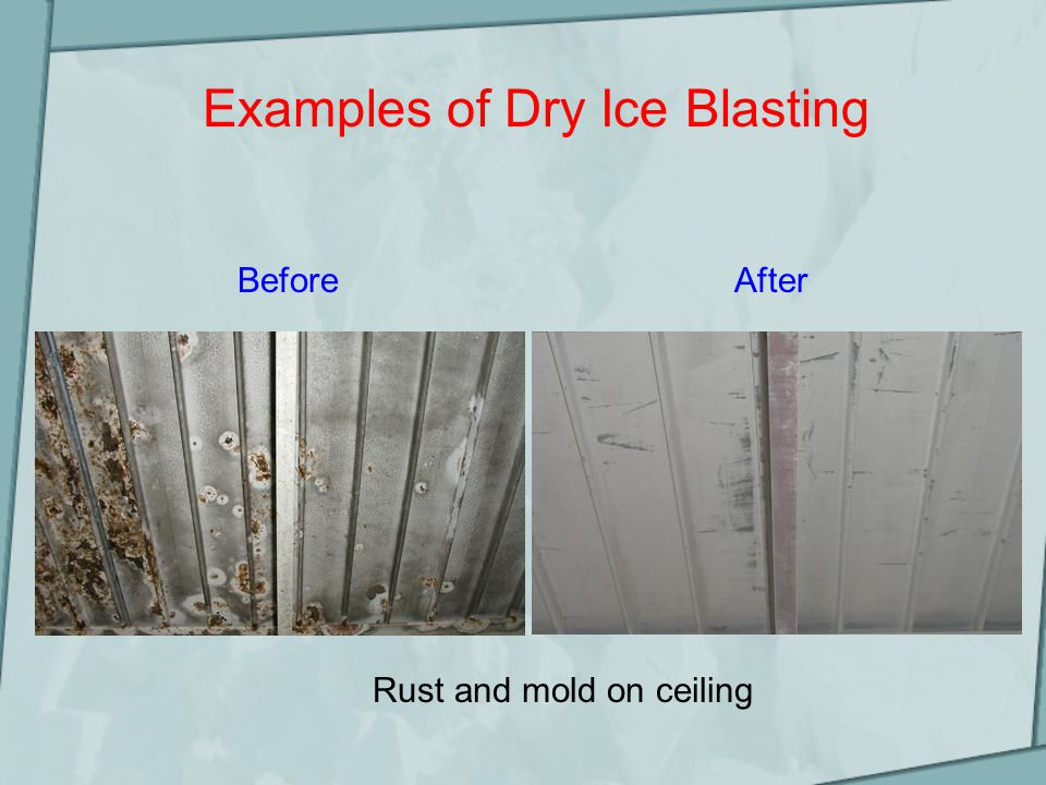 Dry Ice Blasting - Industries Aviation Pharmacology Rubber molding Shipping Fire restoration Printing Bakery Automotive Electrical Mold remediation Packaging Wood Hospitality Health