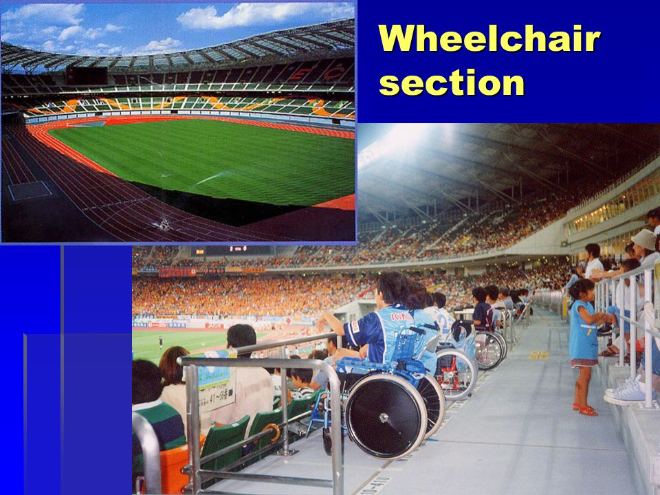 Wheelchair section