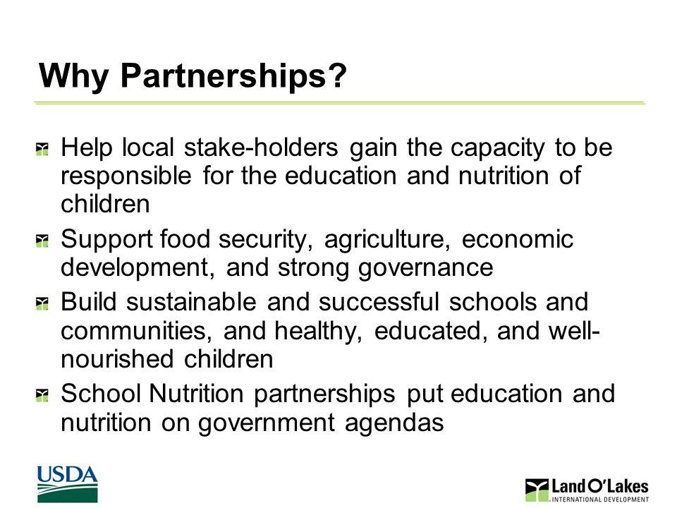 Why Partnerships.