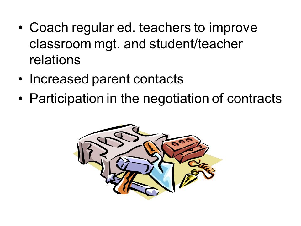Coach regular ed.teachers to improve classroom mgt.