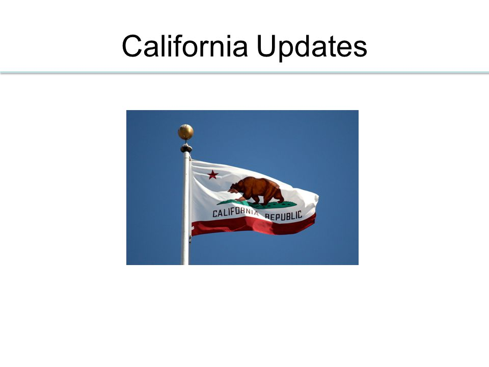California Updates