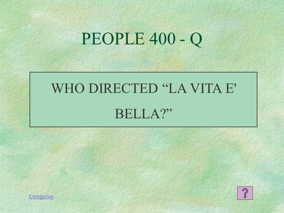 Categories PEOPLE 300 - A A POPULAR ITALIAN ACTRESS (Pozzuoli, Naples - OSCAR)