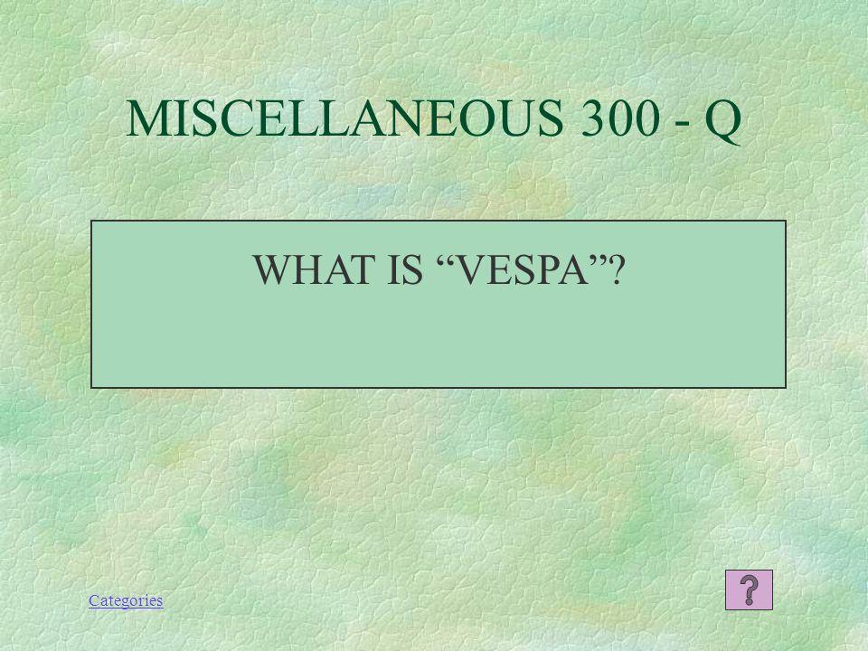 Categories QUEEN MARGHERITA (DAISY) MISCELLANEOUS 200 - A