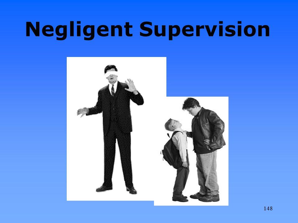 Negligent Supervision 148