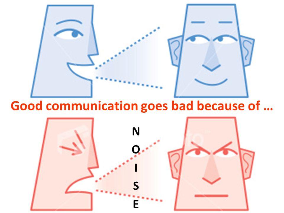 NOISENOISE Good communication goes bad because of …