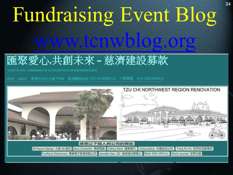 34 Fundraising Event Blog www.tcnwblog.org www.tcnwblog.org