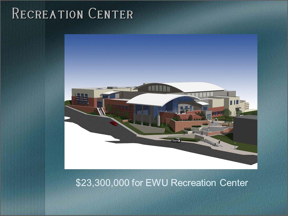 $23,300,000 for EWU Recreation Center Recreation Center