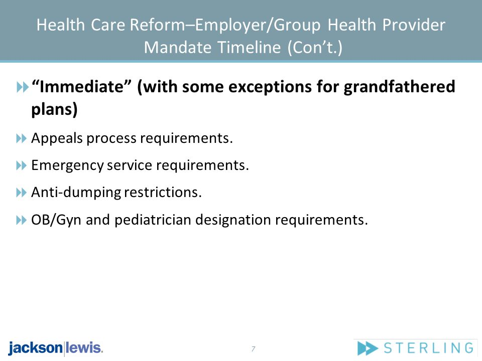 8 Health Care Reform–Employer/Group Health Provider Mandate Timeline (Con't.) Effective 2011  Must report the value of each employee's ER-provided health coverage on W-2.