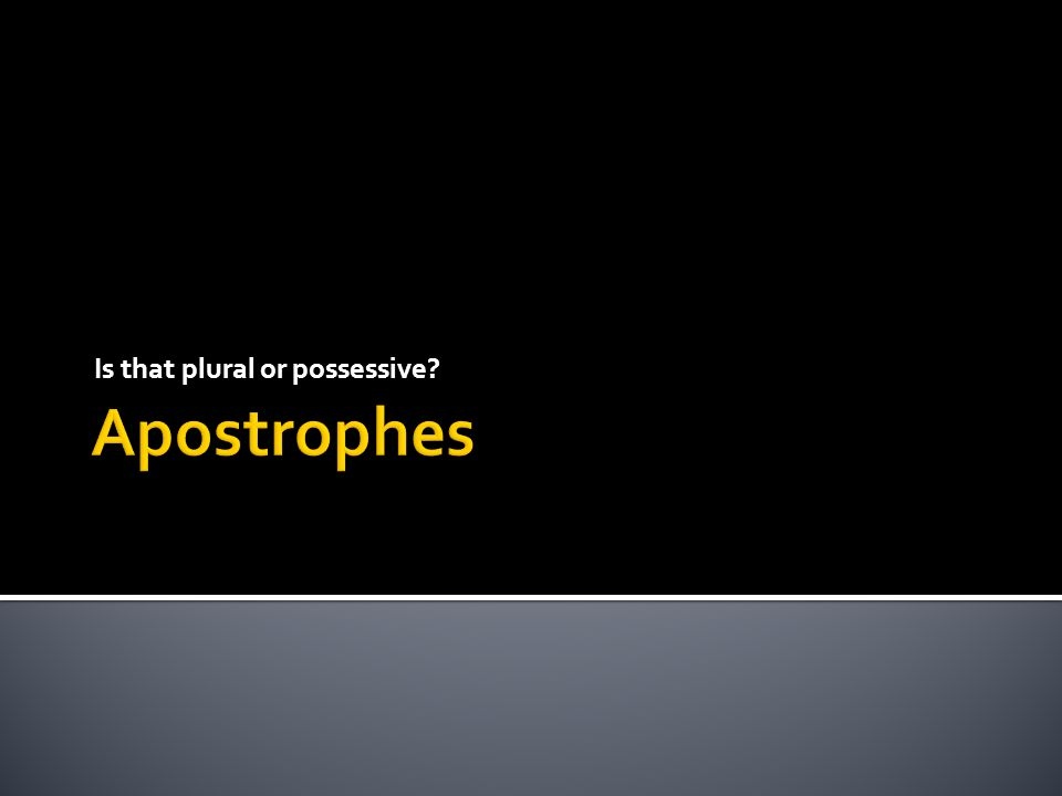 Trying to use apostrophes for possessive pronouns.