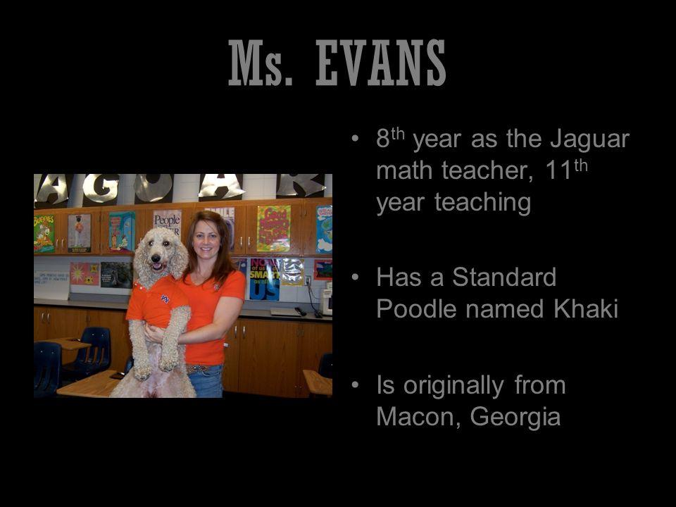 Ms. Foster 1 st year as the Jaguar Language Arts teacher.