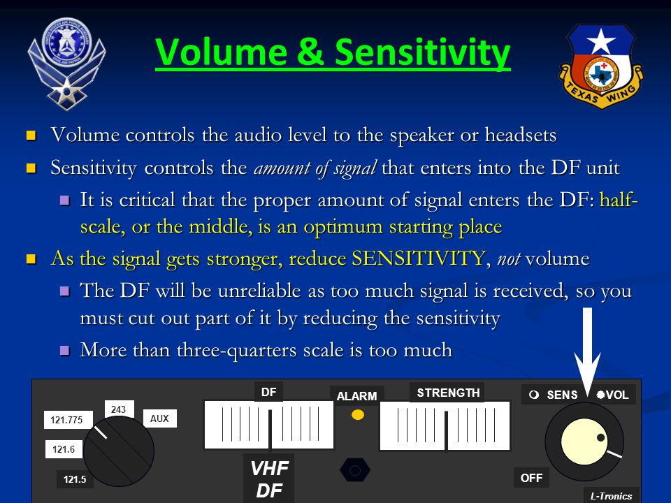 156 Volume & Sensitivity Volume controls the audio level to the speaker or headsets Volume controls the audio level to the speaker or headsets Sensiti