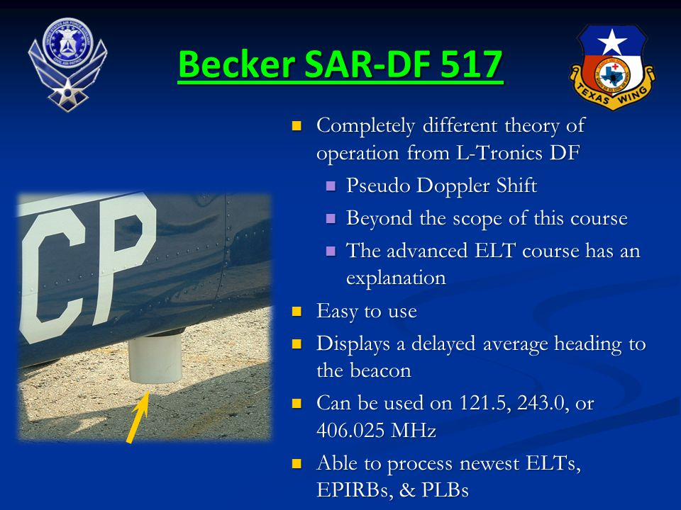 Becker SAR-DF 517 Completely different theory of operation from L-Tronics DF Completely different theory of operation from L-Tronics DF Pseudo Doppler
