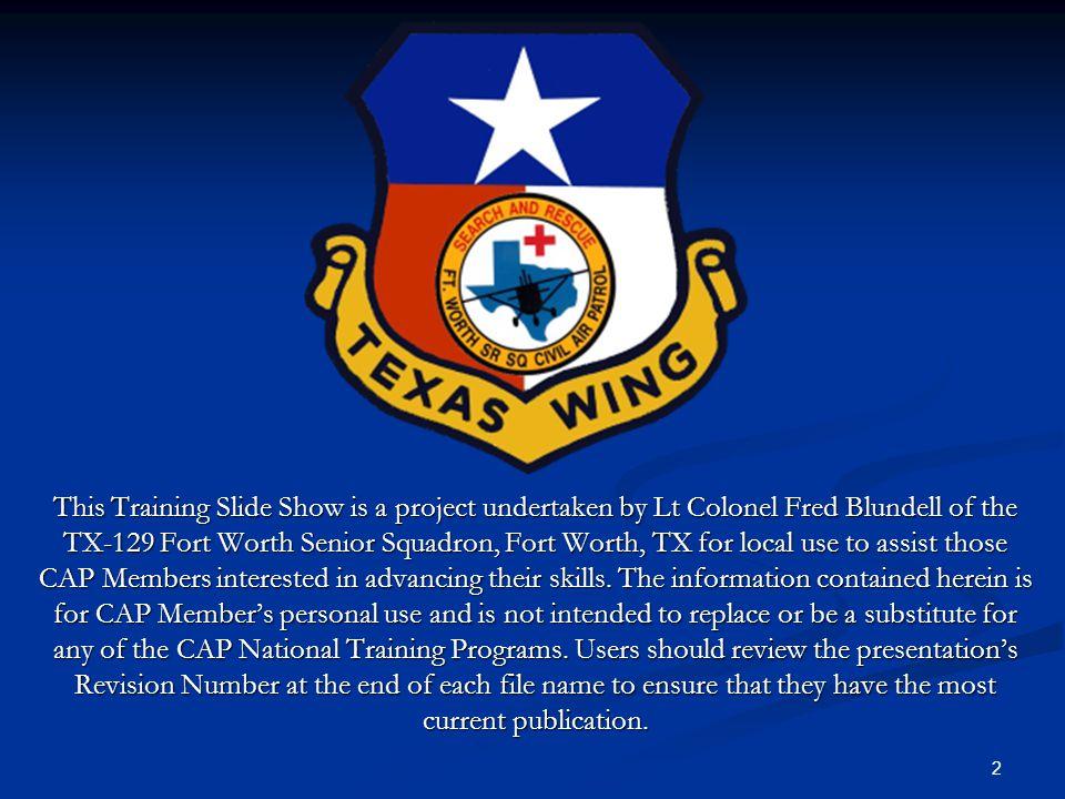 13 CAPF 104 Mission Flight Plan/Briefing Form
