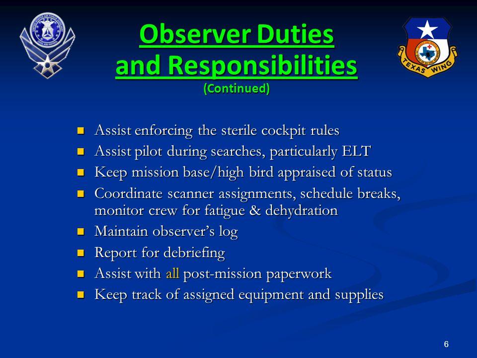 277 Aircrew Briefing Sortie Objectives Sortie Objectives Weather Weather Altitudes Altitudes Duties Duties