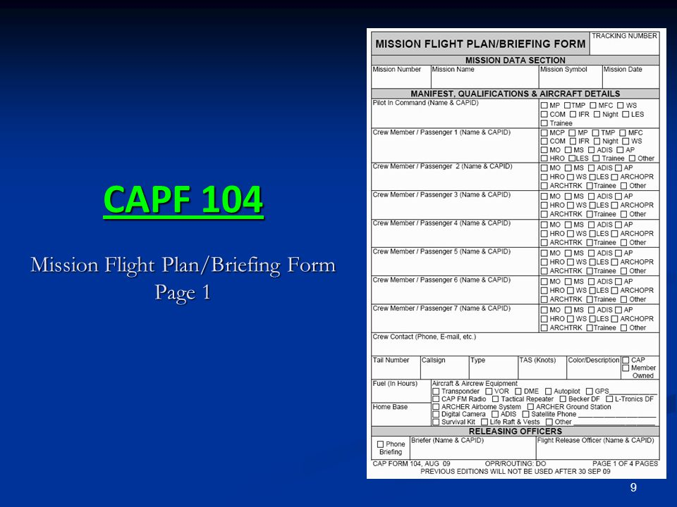 30 CAP Aircraft Call Signs CAP has the FAA authorized callsign CAP CAP has the FAA authorized callsign CAP FAA call signs are stated in 'group' form FAA call signs are stated in 'group' form CPF 4239 is stated as CAP Forty-Two Thirty-Nine CPF 4239 is stated as CAP Forty-Two Thirty-Nine AIM 4-2-4.a.5 and FAA 7110.65 AIM 4-2-4.a.5 and FAA 7110.65