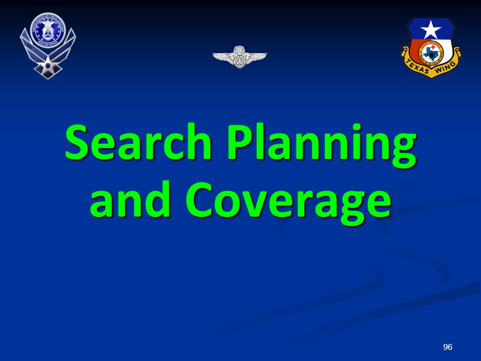 96 Search Planning and Coverage