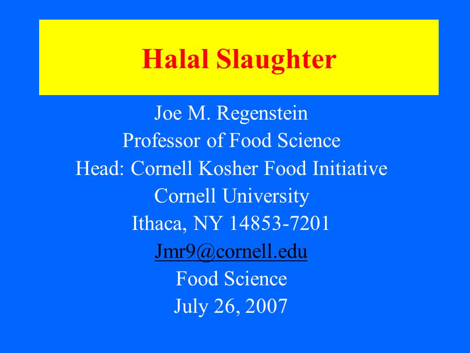 The Steps in Religious and Non- Religious Slaughter A critical look at the steps in the process of slaughtering and animal handling that helps to identify the factors that need to be considered The earlier steps are identical to those used in non-Religious slaughter – and the same problems may occur