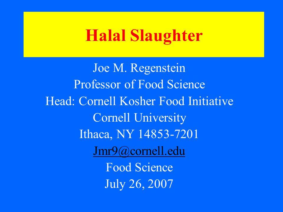 Halal Slaughter Joe M.