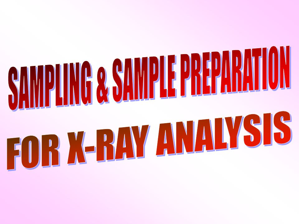 Sample preparation methods must Simple Low cost Rapid Reproducible