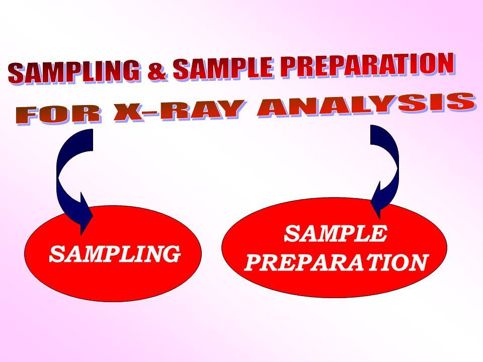 SAMPLING SAMPLE PREPARATION