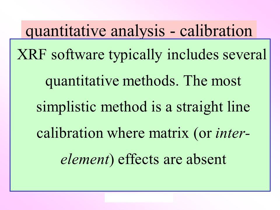 quantitative analysis - calibration XRF software typically includes several quantitative methods.