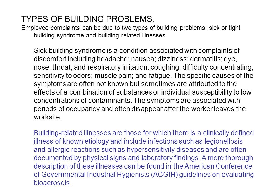 14 TYPES OF BUILDING PROBLEMS.