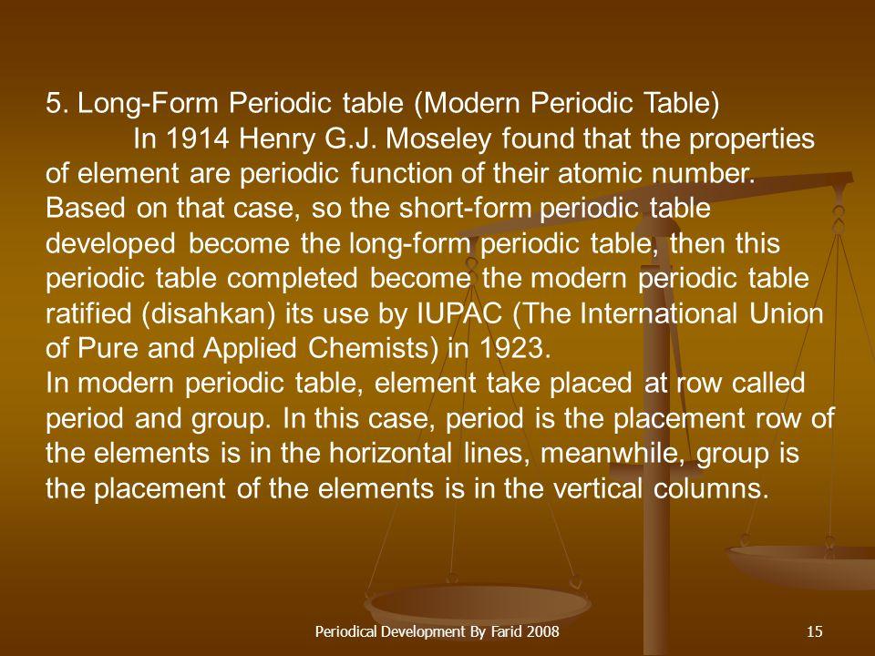 Periodical Development By Farid 200814 Group 0 IIIIIIIVVVIVIIVIII a b abababab abababab H HeLiBeB C N O F NeNaMgAl Si Si P S Cl Cl Ar K Cu Ca Zn Sc Ga