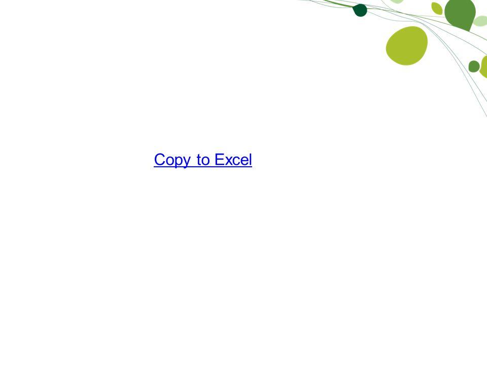 Copy to Excel