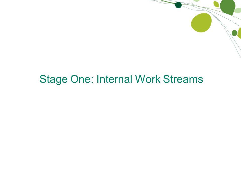 Stage One: Internal Work Streams