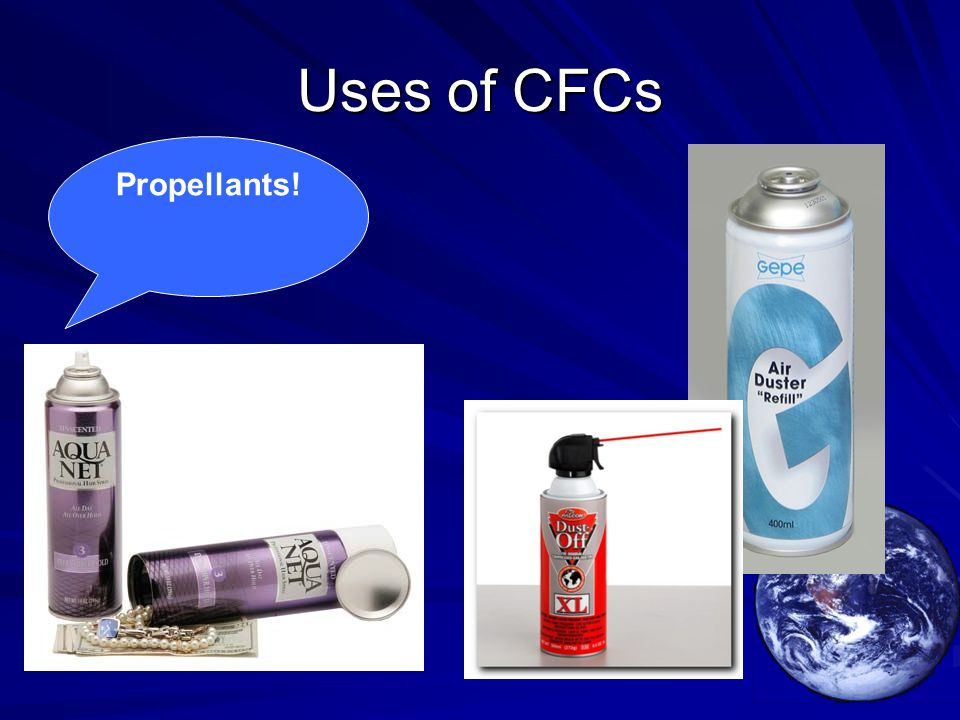 Uses of CFCs Propellants!