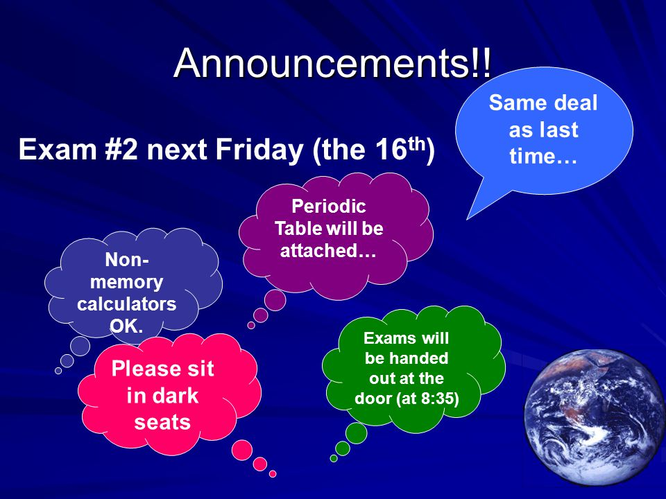 Announcements!.