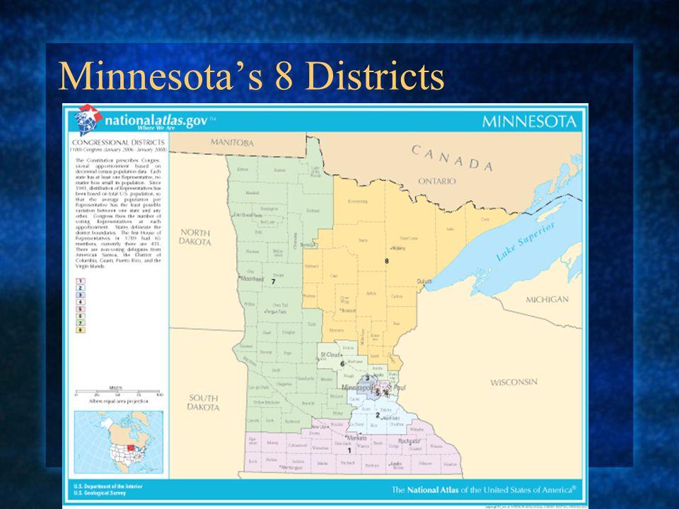 Minnesota's 8 Districts