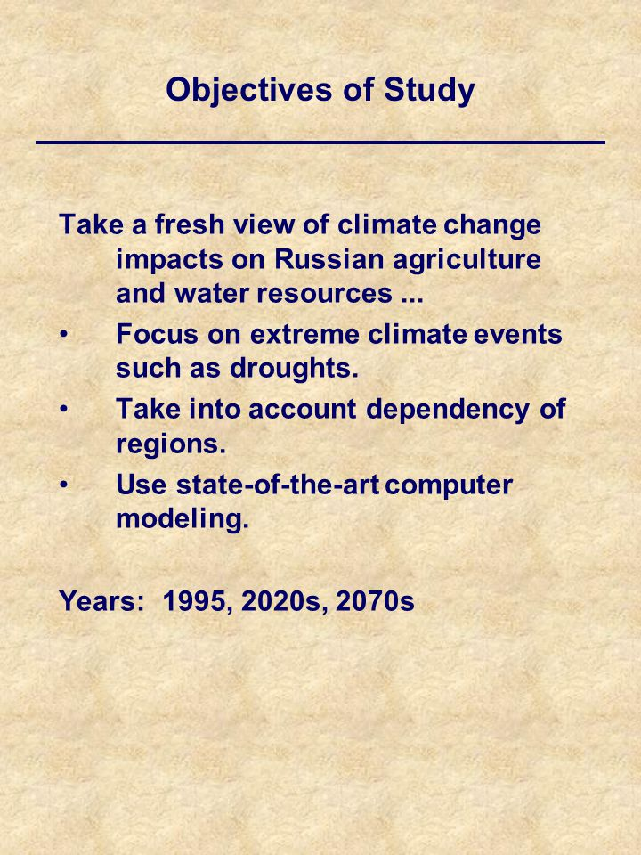 Take a fresh view of climate change impacts on Russian agriculture and water resources...