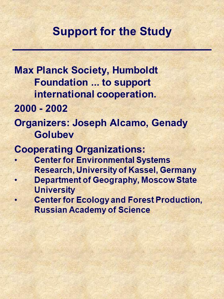 Max Planck Society, Humboldt Foundation... to support international cooperation.