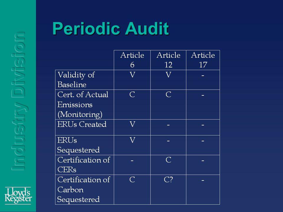 Periodic Audit