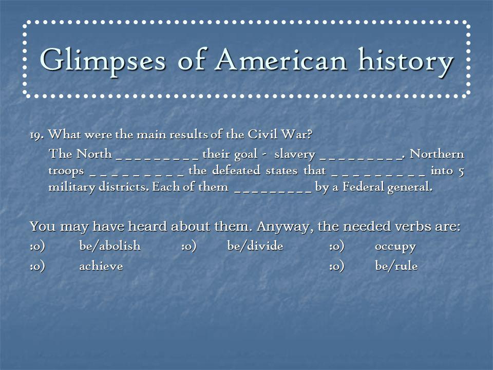 General Grant Civil War (1861 – 1865) General Lee General Lee