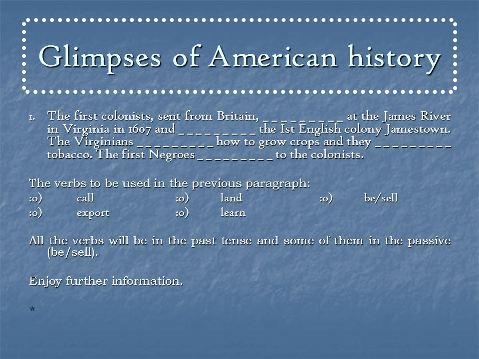 Glimpses of American history