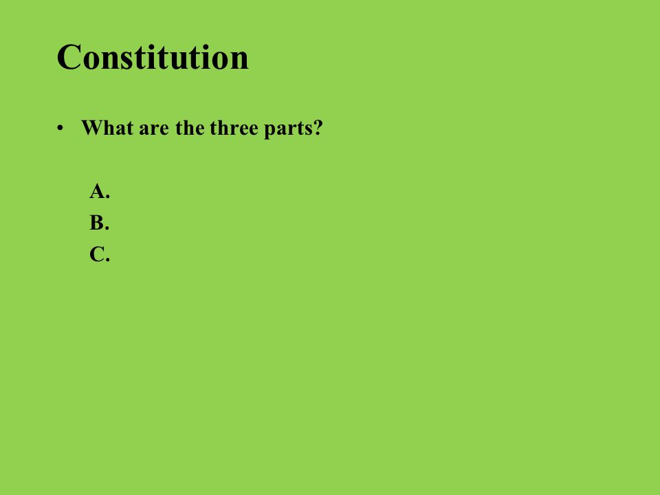 Identify the Principle of the Constitution to the Meaning.