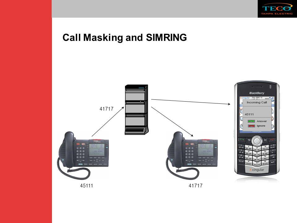 Call Masking and SIMRING 41717 45111